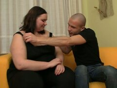 Fat woman drilled deep inside