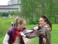 Messy Catfight Ends Up In The Pond