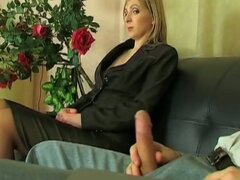 Naughty european secretary gets hammered in the ass
