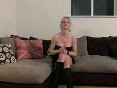 Busty blonde in boots anally fucked