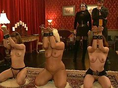 Three Defenseless Girls Are Punished And Slammed