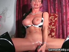 Kinky Carmen has all sorts of toys part6