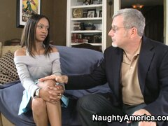 Ebony Riyanna Skie chats with an old white guy...