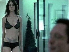 Bonerific Italian Babe Asia Argento Walking Around In Black Lingerie
