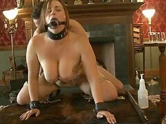 Tied Up and Gagging Babes Get Fucked Hard In BDSM FFMM Foursome