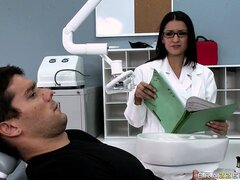 Dentist check him out and decides to give him a nice blowjob