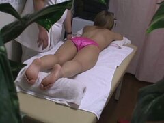 Medical hidden cam video starring a fresh Asian wearing pink panties