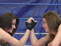 Lesbian sex with hot wrestling women