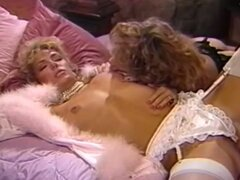 Wife goes lesbian while hubby is away in classic clip