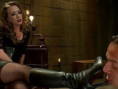 Blonde Dominatrix sure Knows How to Use a Strapon