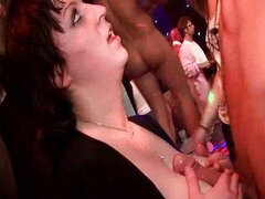 Cumshots Galore In The Nightclub Party
