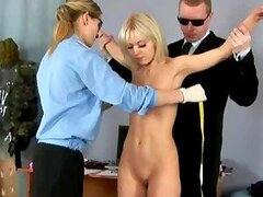 Blonde Bimbo Gets Strip Searched At The Airport