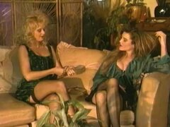 This wonderful vintage porn movie is an exciting story of a girl who came to work in a whore house. But being very shy and inexperienced, she starts with doing massage only. She watches other girls doing artful blowjobs, making the customers' fantasies come true, coming hard and getting paid. Easy money is so tempting, and eventually the new men on the block decides to give it a try and to masturbate in front of a customer. This turns her on so much that she throws herself into lewd abandon, realizing that it's her dream job 'cause it brings not only money but tons of pleasure as well.