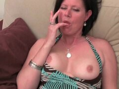 Older mom with big tits...