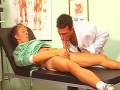 Doctor decides that a wet blojob is the best gay medicine