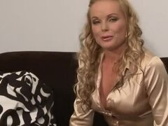 Lara C shows her body to Silvia Saint during a casting