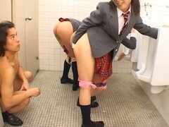 Three Schoolgirls Line Up For An Ass Fucking...