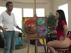 Luscious Lopez Paints a Masterpiece with Her Phat Ass