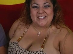 Huge bbw reyna gets picked up and gets massive tits sucked