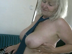 Couple of old obese whores boobs kissing and pussy fondling