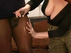 Horny MILF sluts jacking off policemans little black cock