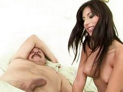 Hot teen beauty fucking with old guy