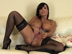 Lisa Ann introduces her on masturbation show where she demonstrates her talents