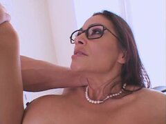 Ava Lauren is a beautiful curvy MILF. She dons the glasses and enjoys getting fucked.