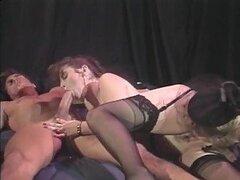 Nina Hartley gives teaches a girl how to please a man