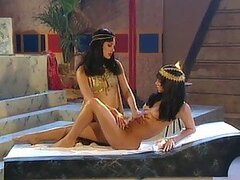 Hot Girls In Egyptian Costumes Having a Threesome