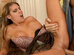 Busty blonde housewife nailed by handsome bald dude
