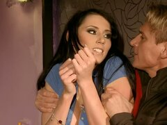 Beautiful Babe Gets Tied Toyed and Fucked in BDSM Clip
