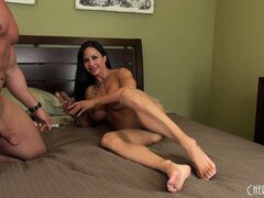 Jewels Jade gets her man's big cock wet and ready to ride on