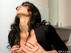 Classes and a tight suit made this hot brunette teacher more fuckable than ever