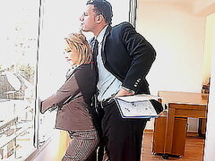 Play this video to see hot blonde babe banging with her boss