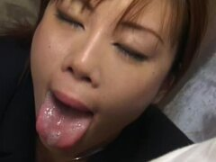 Slutty japanese swallows large load