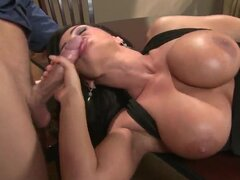 Busty brunette whore Lisa Ann fucks hard with her new boyfriend Mick Blue. She has an amazing body with sexy forms and gigantic boobs. She gives her pussy for hardcore licking!