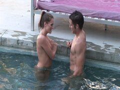Sexy pornstar tori black fucked by the pool