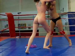 Angelica Heart and Denisa Doll fight before playing lesbian games