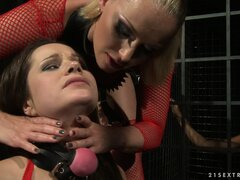 Mistress Kathia wants her slavegirls to be used to hardcore anal romping