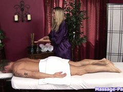 The heavenly massage therapist gives the Governor the treatment he requires