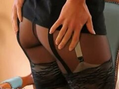 Black panties and super panties
