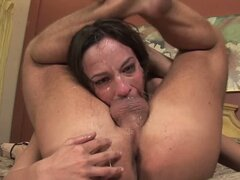 Sexy Amber Rayne gasps for breath on this prick