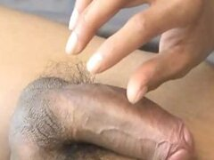 smooth asian jerking off