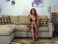 Tori Taylor finds herself on the solo couch and baring her black bod