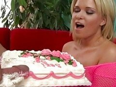 Sasha Knox start sucking a cock deep with icing