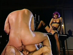 Bizarre porno scene in theatre leads ot a hot group sex. Tasty video
