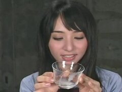 Yuka Osawa enjoys sperm on food