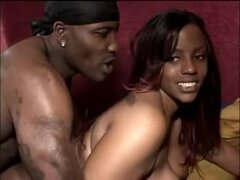All ebony double penetration with a big ass girl