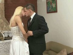 Blonde shemale marries man for sex